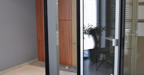 Алюмінієві терасні двері з низьким порогом