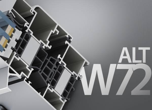 Вікна з профілю Alutech W72