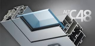 Вікна з профілю Alutech C48