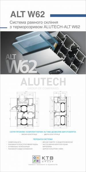 Вікна з профілю Alutech W62